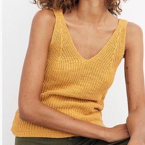 Madewell Monterey Sweater Tank Yellow
